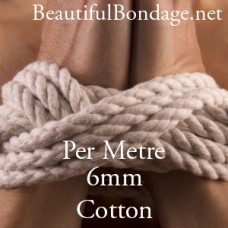 Per Metre 6mm White Cotton