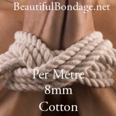 Per Metre 8mm White Cotton