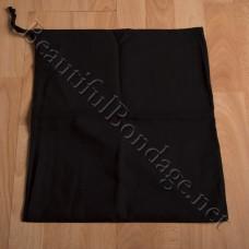 Black Cotton Rope Bag